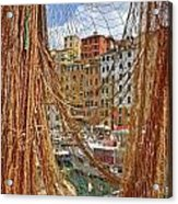 Port Of Camogli Acrylic Print by Joana Kruse