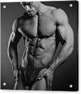 Portrait Of An Athlete Acrylic Print by Albert Smirnov