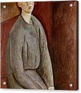 Portrait Of Annie Bjarne Acrylic Print by Amedeo Modigliani