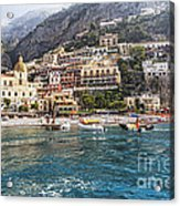 Positano Seaside View Acrylic Print by George Oze