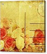 Postcard With Floral Pattern Acrylic Print by Setsiri Silapasuwanchai