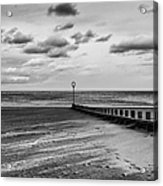 Potobello Beach And Drifting Sands Acrylic Print by John Farnan