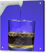 Pouring Oil Into Vinegar Acrylic Print by Photo Researchers, Inc.