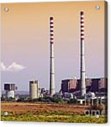 Power Plant Acrylic Print by Carlos Caetano