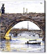 Prague Bridges Acrylic Print by Yuriy  Shevchuk