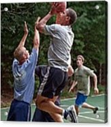 President Barack Obama Plays Basketball Acrylic Print by Everett