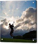 President Barack Obama Plays Golf Acrylic Print by Everett