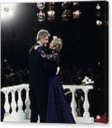 President Bill Clinton And Hillary Acrylic Print by Everett