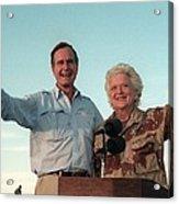 President George Bush And Barbara Bush Acrylic Print by Everett