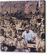 President George Bush Having Acrylic Print by Everett