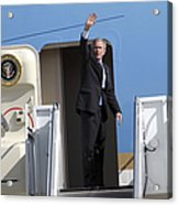 President George Bush Waves Good-bye Acrylic Print by Stocktrek Images