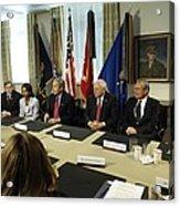 President George W. Bush And Members Acrylic Print by Everett