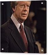 President Jimmy Carter Speaking Acrylic Print by Everett