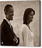 President Obama And First Lady S Acrylic Print by David Dehner