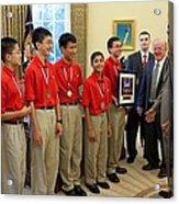 President Obama Greets Mathcounts Acrylic Print by Everett