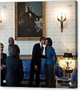 President Obama Kisses First Lady Acrylic Print by Everett