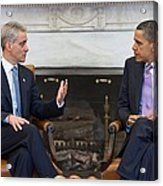 President Obama Meets With Chicago Acrylic Print by Everett