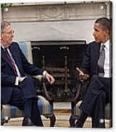 President Obama Meets With Senate Acrylic Print by Everett
