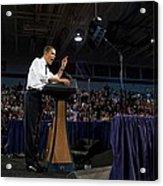 President Obama Promotes Health Care Acrylic Print by Everett