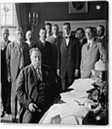 President William H. Taft At His Desk Acrylic Print by Everett