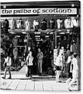 Pride Of Scotland Scottish Gifts Shop Princes Street Edinburgh Scotland Uk United Kingdom Acrylic Print by Joe Fox