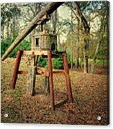 Primitive Sugar Cane Mill Acrylic Print by Tamyra Ayles