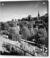 Princes Street Gardens Edinburgh Scotland Uk United Kingdom Acrylic Print by Joe Fox