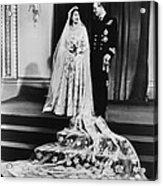 Princess Elizabeth And Prince Philip Acrylic Print by Everett