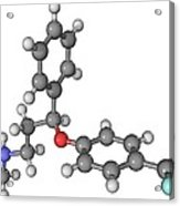 Prozac Antidepressant Molecule Acrylic Print by Laguna Design
