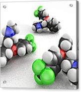 Prozac Molecules Acrylic Print by Phantatomix