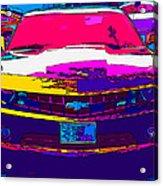 Psychedelic Camaro Acrylic Print by Samuel Sheats