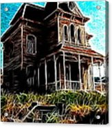 Psycho House Acrylic Print by Paul Van Scott