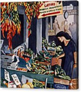Public Market With Chilies Acrylic Print by Scott Nelson