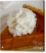 Pumpkin Pie Acrylic Print by Cheryl Young