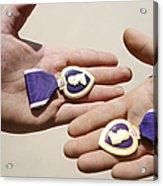 Purple Heart Recipients Display Acrylic Print by Stocktrek Images