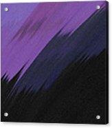 Purple Sunrise Acrylic Print by Lance  Kelly