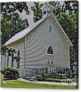 Quaker Church Pencil Acrylic Print by Scott Hervieux