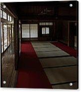 Quietude Of Zen Meditation Room - Kyoto Japan Acrylic Print by Daniel Hagerman
