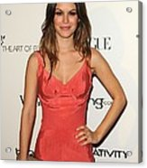 Rachel Bilson Wearing A Zac Posen Dress Acrylic Print by Everett