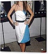 Rachel Bilson Wearing An Abaete Dress Acrylic Print by Everett
