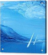 Racing Sailboats 6 Acrylic Print by Danita Cole
