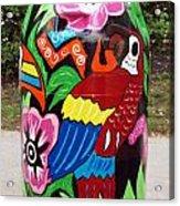 Rain Barrel 2 Acrylic Print by Luis Lugo