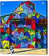 Rainbow Jug Building Acrylic Print by Samuel Sheats