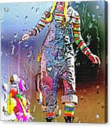Rainy Day Clown 3 Acrylic Print by Steve Ohlsen