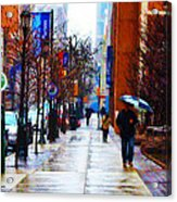 Rainy Day Feeling Acrylic Print by Bill Cannon
