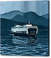 Rainy Ferry Acrylic Print by Scott Nelson
