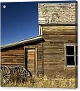 Ranchers House In Prairie Semi-ghost Acrylic Print by Pete Ryan