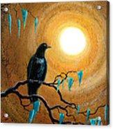 Raven In Dark Autumn Acrylic Print by Laura Iverson