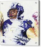 Ray Rice Acrylic Print by Ash Hussein