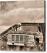 Ready For The Harvest Sepia Acrylic Print by JC Findley